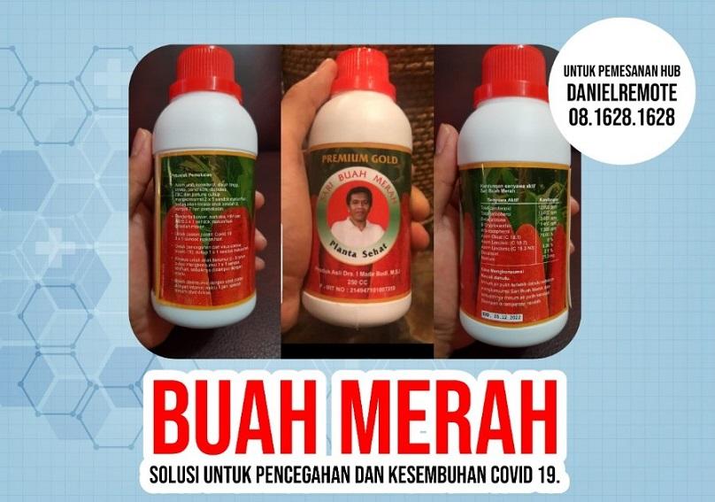 Cegah Covid19 Dengan Senyawa Aktif 'Sari Buah Merah'
