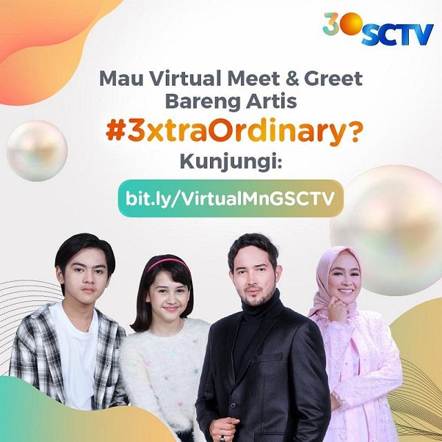 #3XTRAORDINARY SCTV Hadirkan Virtual Meet and Greet Bintang 'Dari Jendela SMP' dan 'Istri Kedua' Sapa Pemirsa Bandung