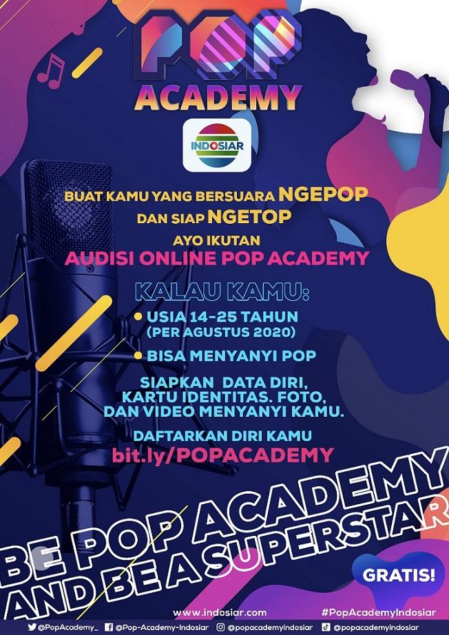 Indosiar Gelar Audisi Online Ajang Pencarian Bakat 'Pop Academy'