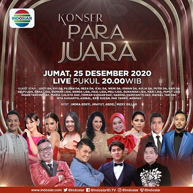Sambut Liburan Akhir Tahun, Indosiar Gelar 2 Konser Spesial