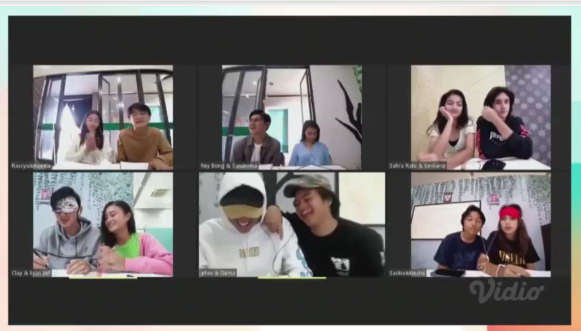 Para Pemain 'Dari Jendela SMP' Uji Kekompakan Lewat Games Kocak