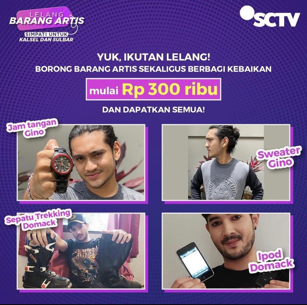 Bintang SCTV Ramai Ramai 'Lelang Barang Artis' Untuk Kalsel dan Sulbar