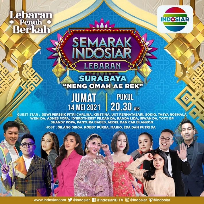Obati Kerinduan Kampung Halaman Di Idul Fitri 1442 H, Indosiar Hadirkan Konser Spesial Di 4 Kota